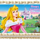 "Edible SLEEPING BEAUTY Aurora image cake topper 1/4 sheet (10.5"" x 8"")"