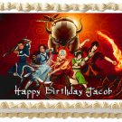 "Edible AVATAR AIRBENDER image cake topper 1/4 sheet (10.5"" x 8"")"
