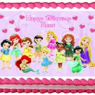 "Edible BABY DISNEY PRINCESS image cake topper 1/4 sheet (10.5"" x 8"")"