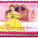 "Edible BELLE Beauty and the beast image cake topper 1/4 sheet (10.5"" x 8"")"