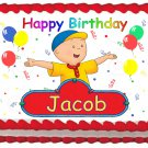 "Edible CAILLOU PARTY image cake topper 1/4 sheet (10.5"" x 8"")"
