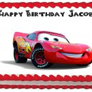 "Edible CARS McQUEEN image cake topper 1/4 sheet (10.5"" x 8"")"