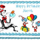 "Edible CAT IN THE HAT image cake topper 1/4 sheet (10.5"" x 8"")"