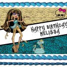 "Edible CLEO DE NILE Monster high image cake topper 1/4 sheet (10.5"" x 8"")"