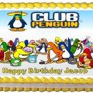 "Edible CLUB PENGUIN image cake topper 1/4 sheet (10.5"" x 8"")"