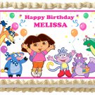"Edible DORA THE EXPLORER image cake topper 1/4 sheet (10.5"" x 8"")"