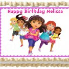 "Edible DORA FRIENDS image cake topper 1/4 sheet (10.5"" x 8"")"