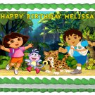 "Edible DORA AND DIEGO image cake topper 1/4 sheet (10.5"" x 8"")"