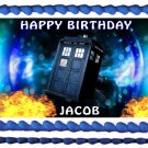 "Edible DR WHO image cake topper 1/4 sheet (10.5"" x 8"")"