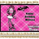 "Edible DRACULAURA Monster High image cake topper 1/4 sheet (10.5"" x 8"")"