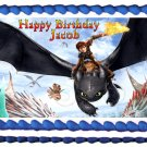"""Edible HOW TO TRAIN YOUR DRAGON image cake topper 1/4 sheet (10.5"""" x 8"""")"""