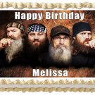 "Edible DUCK DYNASTY image cake topper 1/4 sheet (10.5"" x 8"")"