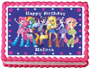 "Edible QUESTRIA GIRLS Party image cake topper 1/4 sheet (10.5"" x 8"")"
