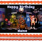 "Edible FIVE NIGHTS AT FREDDY'S image cake topper 1/4 sheet (10.5"" x 8"")"