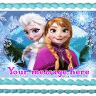 "Edible FROZEN ELSA & ANNA image cake topper 1/4 sheet (10.5"" x 8"")"