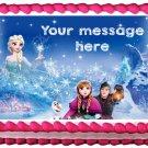 "Edible FROZEN ELSA AND ANNA image cake topper 1/4 sheet (10.5"" x 8"")"