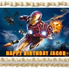 "Edible IRON MAN image cake topper 1/4 sheet (10.5"" x 8"")"