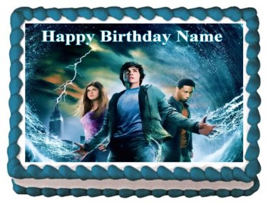 """Edible PERCY JACKSON AND THE OLYMPIANS image cake topper 1/4 sheet (10.5"""" x 8"""")"""