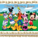 "Edible MICKEY MOUSE CLUB HOUSE image cake topper 1/4 sheet (10.5"" x 8"")"