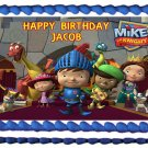 "Edible MIKE THE KNIGHT image cake topper 1/4 sheet (10.5"" x 8"")"