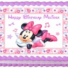 "Edible MINNIE MOUSE Angel image cake topper 1/4 sheet (10.5"" x 8"")"