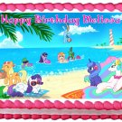 "Edible MY LITTLE PONY beach image cake topper 1/4 sheet (10.5"" x 8"")"