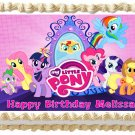"Edible MY LITTLE PONY image cake topper 1/4 sheet (10.5"" x 8"")"
