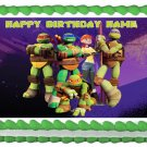 "Edible TEENAGE MUTANT NINJA TURTLES image cake topper 1/4 sheet (10.5"" x 8"")"