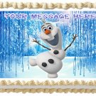 "Edible OLAF Frozen image cake topper 1/4 sheet (10.5"" x 8"")"