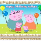 "Edible PEPPA PIG image cake topper 1/4 sheet (10.5"" x 8"")"