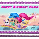 "Edible SHIMMER AND SHINE image cake topper 1/4 sheet (10.5"" x 8"")"