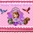 "Edible SOFIA THE FIRST image cake topper 1/4 sheet (10.5"" x 8"")"