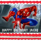 "Edible SPIDERMAN image cake topper 1/4 sheet (10.5"" x 8"")"