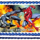 "Edible SPIDERMAN AND VENOM image cake topper 1/4 sheet (10.5"" x 8"")"
