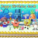 "Edible SPONGE BOB image cake topper 1/4 sheet (10.5"" x 8"")"