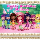 "Edible STRAWBERRY SHORTCAKE and FRIENDS image cake topper 1/4 sheet (10.5"" x 8"")"