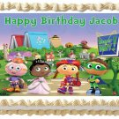 "Edible SUPER WHY image cake topper 1/4 sheet (10.5"" x 8"")"