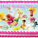 "Edible TINKERBELL FAIRIES image cake topper 1/4 sheet (10.5"" x 8"")"