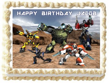 "Edible TRANSFORMERS image cake topper 1/4 sheet (10.5"" x 8"")"