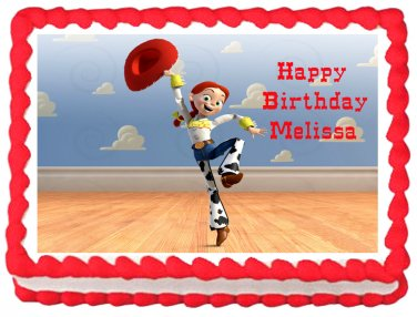 "Edible TOY STORY JESSE image cake topper 1/4 sheet (10.5"" x 8"")"
