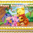 "Edible BABY WINNIE THE POOH image cake topper 1/4 sheet (10.5"" x 8"")"