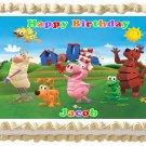 "Edible WORD WORLD image cake topper 1/4 sheet (10.5"" x 8"")"