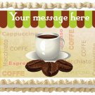 "Edible CUP OF COFFEE image cake topper 1/4 sheet (10.5"" x 8"")"