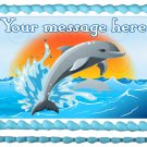 "Edible DOLPHIN image cake topper 1/4 sheet (10.5"" x 8"")"
