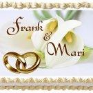 """Edible CALLA LILY Wedding image cake topper 1/4 sheet (10.5"""" x 8"""")"""