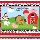 "Edible FARM image cake topper 1/4 sheet (10.5"" x 8"")"