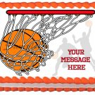 "Edible BASKETBALL image cake topper 1/4 sheet (10.5"" x 8"")"