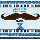 "Edible LITTLE MAN MUSTACHE image cake topper 1/4 sheet (10.5"" x 8"")"