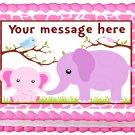 "Edible GIRLS ELEPHANTS image cake topper 1/4 sheet (10.5"" x 8"")"