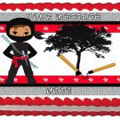 "Edible NINJA WARRIOR image cake topper 1/4 sheet (10.5"" x 8"")"
